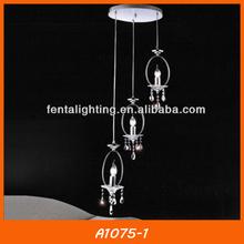 A1075-1 lámpara de arte de hierro en espiral de techo colgante de la lámpara