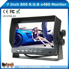 For Bus Tractor Van Trailer 7 Inch TFT HD Stand Alone Car Lcd Monitor
