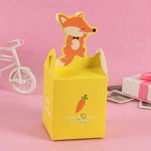 cheap orange cute food packaging boxes