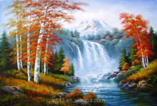 fabric painting supplies Artwork landscape oil painting on canva CT-17