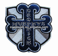 embroidered cross patch
