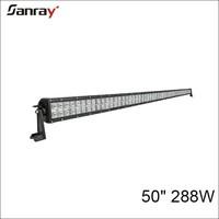 """High power 12V 24V DC straight 50"""" led light bar for off road vehicles"""