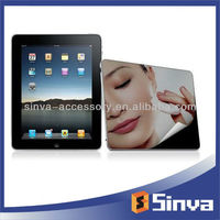 Lcd screen guard transparent mirror screen protector for ipad mini