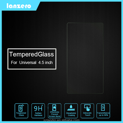 Universal Tempered Glass Screen Protector For 4.5 inch Screen Anti-Explosion 9H 0.33mm For 4.5 inch Screen