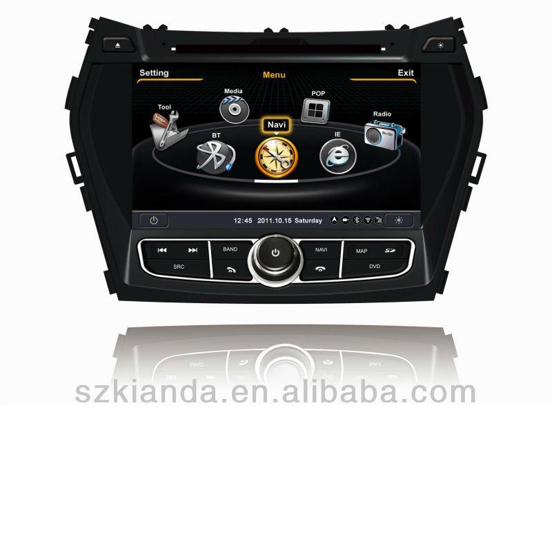 S100 plataforma 8 pulgadas DVD del coche de Hyundai ix45, Hyundai Santa Fe 2013