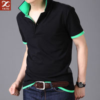 Stylish design color combination man polo t-shirts wholesale