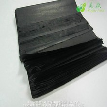 Wood pulp material black tissue paper with printed shinny golden foil logo