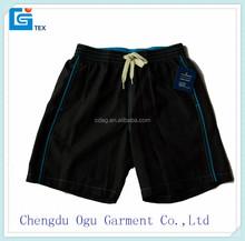 stylish quality 100% microfiber polyester men hot sexy swimwear bermdas shorts