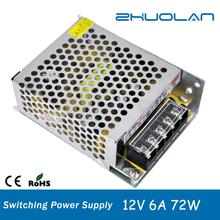 wholesale alibaba 12v 6a 72w led transformer AC/DC led switching power supply