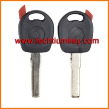 car keys blank fob shell for vw passat b6 transponder key for vw golf 4 key cover case with Red chip groove