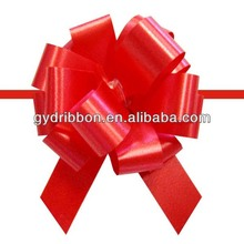 Popular Gift Pom Pom Plastic Pull Ribbon Bow for Wedding Car/Chair Decoration