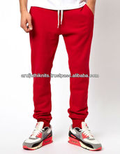 100% COTTON MENS RED SWEAT PANT