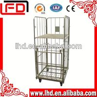 3-sides supermarket foldable Security Roll Cage