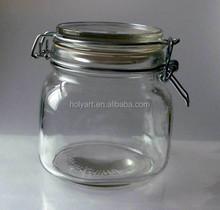 hot sale clip top glass jar