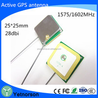 internal ceramic active gps patch antenna 1575.42MHz with RG1.13 RG174 cable & IPEX MMCX connector