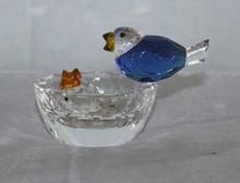 wholesale glass blue bird figurines MH-D0081