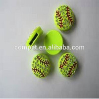 Full Rhinestone Zinc Alloy Metal Baseball 10mm slide charms