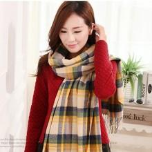 alibaba esprimere inverno caldo plaid di lana acrilica nappa women scialle sciarpa di pashmina