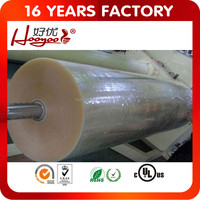 Clear and Yellowish BOPP Adhesive Tape Jumbo Roll