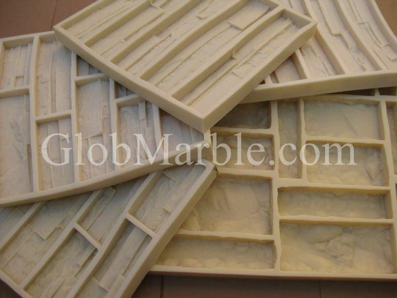 Moldes de concreto. Folheado de pedra molde de borracha
