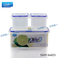 3pcs.set Food & Storage Containers bx-026 rectangle food container kit waterproof case