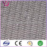 Hexagonal wire roller mosquito net mesh fabric silver thread