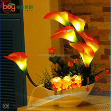 100% PU calla lily flower light led PU flower artificial flowers with led lights