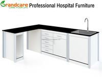 Combination Cabinet With Work Table Hospital Furniture Used For Dental Clinic Or Lab Office