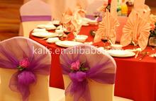 Hot sale popular wedding chair cover&organza chair cover sashes&gold chair sashes