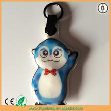 cute monkey design led flashing keychain