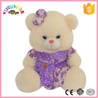 2015 Plush Valentines bear mini jointed toy PU bear &PU toy bear&PU stuffed toy bear
