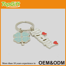 Custom enamel keychain supplier with your own design for Miami with clover