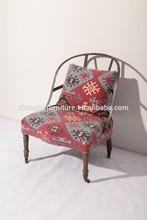 nueva clásica de hierro creativo de la polea de la restauración de la antigua tela sillas de hierro forjado