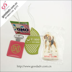 China Manufacturers cheap car fresheners / paper car air freshener for hotel