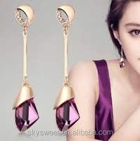 Australia crystal drop earring, no hole earring wholesale(SWTJUQM033)