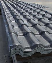 Waterproof ASA spanish PVC roof tile/ synthetic resin tile/ spanish tile