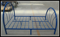 Nice circle bed frame metal tube bed frames cheap single metal bed
