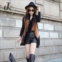 China Supplier Long Double faced Fur Gilet Kid Lamb Fur Vest