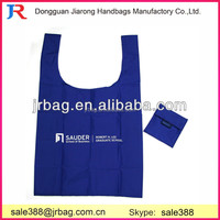 Promotional 210D Polyester Foldable Shopping bags & Reusable Folding shopping bags & polyester Folding bags