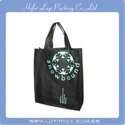 LUYI brand black color pp non woven shopping bag