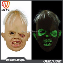 2015 newest design Halloween Costumes party latex mask with fluorescent light