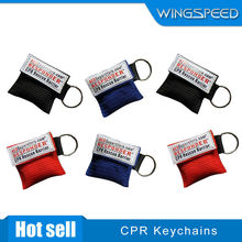 Colorful disposable one-way valve emergency CPR life key breathing mask