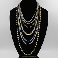 2015 Unique Charming Colorful Multi Layer Bead Fashion Necklace