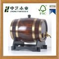 2015 year los proveedores de china FSC & ISO9001 antiguos hechos a mano de roble barriles de vino de madera para made in china venta al por mayor