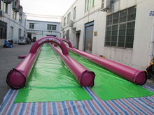 2015 inflatable double lane slide,giant inflatable City Slip and Slide,inflatable slip and slide