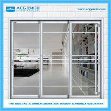 china customized powder coated treatment aluminum sliding door for living room