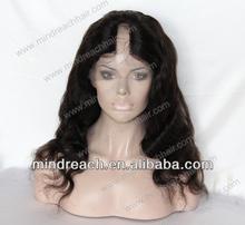 2015 new arrival human hair brazilian virgin hair body wave U part full lace wig
