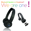 2015 newly 2-in-1 phone headphone wholesale with outer speaker