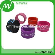Classic promotion items cheap custom silicone slap bracelet