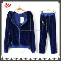 Wholesale ladies velour tracksuit designer jogging suits for women